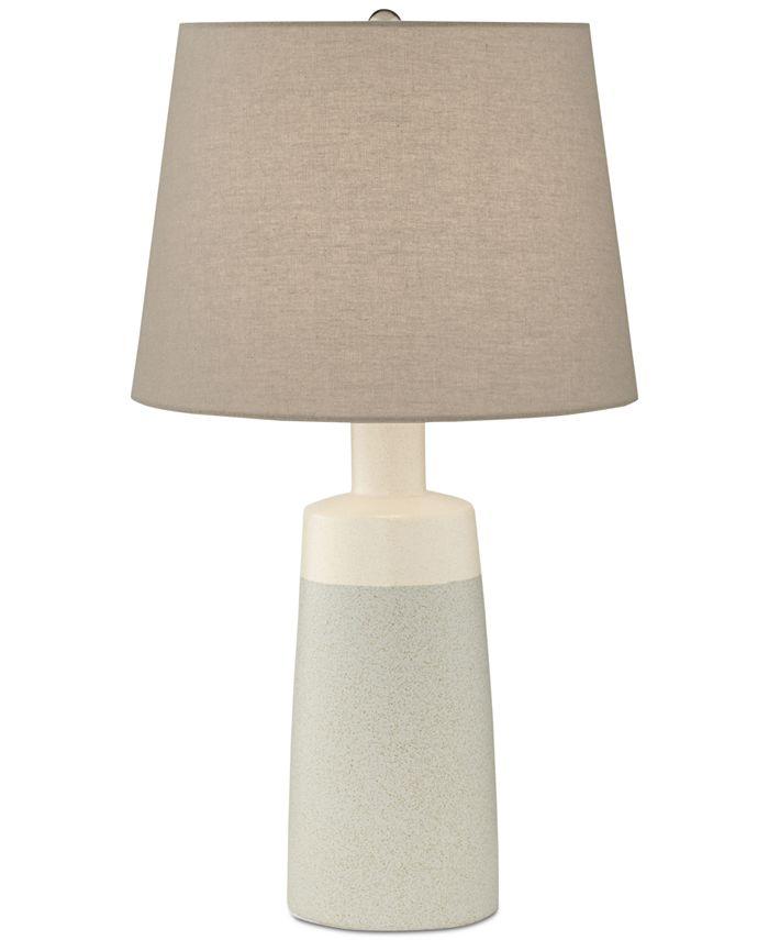 Kathy Ireland - Cool Grey Ceramic Table Lamp