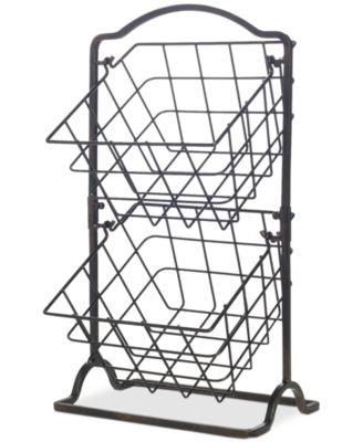 Gourmet Basics By General Store 2-Tier Hanging Basket