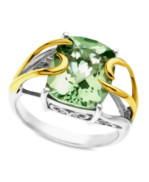 14k Gold and Sterling Silver Ring, Green Quartz (4-3/4 ct. t.w.)