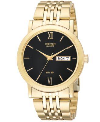 citizen s gold tone stainless steel bracelet