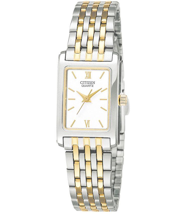 Citizen - Women's Two Tone Stainless Steel Bracelet Watch 18mm EJ5854-56A