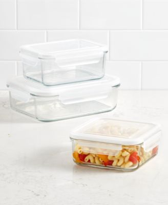 Square 2.45-Qt. Glass Storage Container, Created for Macy's