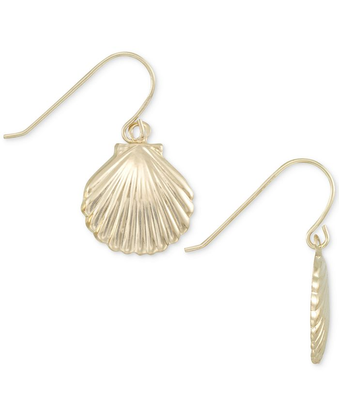 Macy's - Shell Drop Earrings in 10k Gold