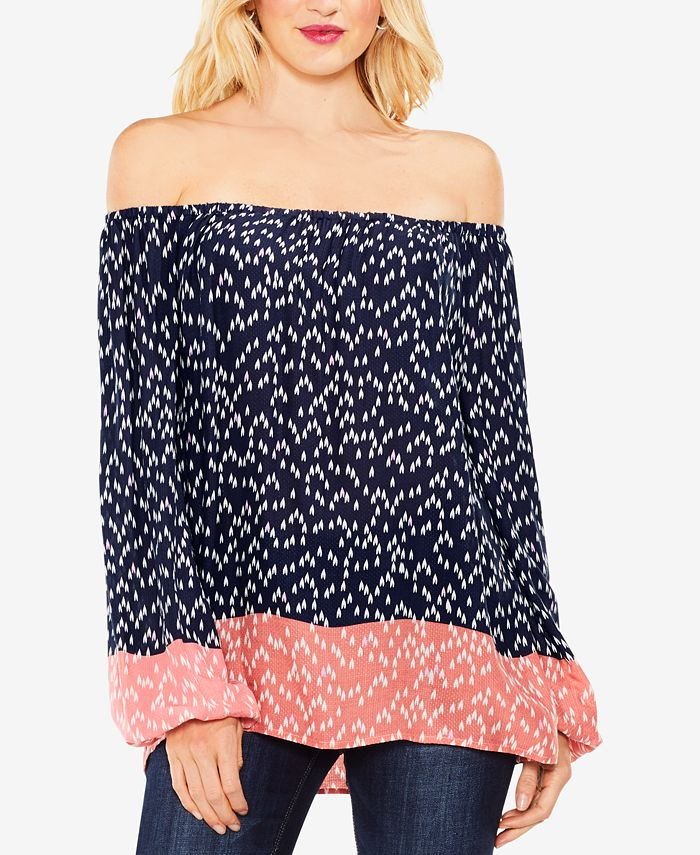 Vince Camuto - Blouson-Sleeve Off-The-Shoulder Top