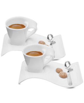 Villeroy & Boch Set of 2 New Wave Caffe Espresso Cups and Saucers