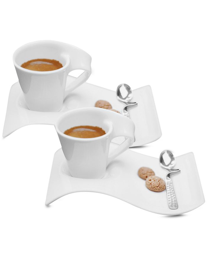 Villeroy & Boch - Set of 2 New Wave Caffe Espresso Cups and Saucers