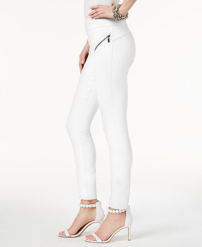 INC International Concepts - Petite Skinny Moto Pants