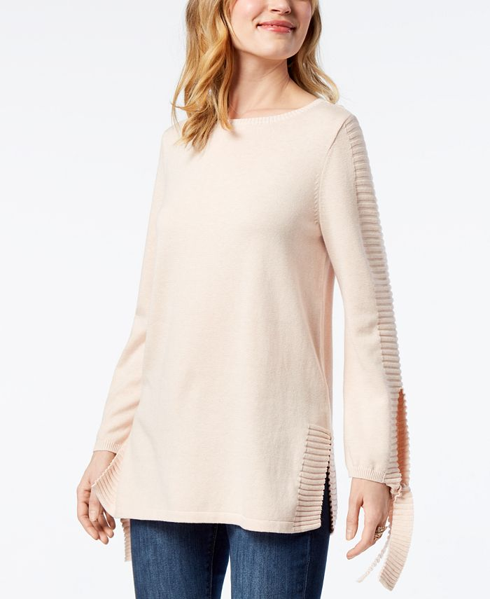 Style & Co - Petite Ribbed-Knit Tunic Sweater