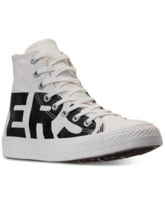Star Wordmark High Top Casual Sneakers