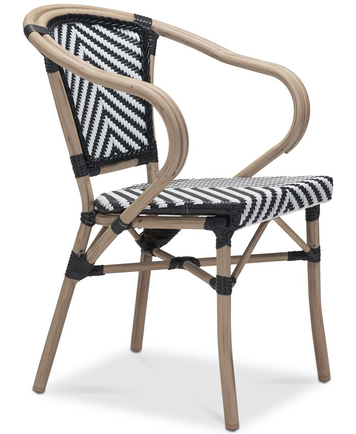 Zuo - Dalien Outdoor Dining Arm Chair (Set Of 2), Quick Ship