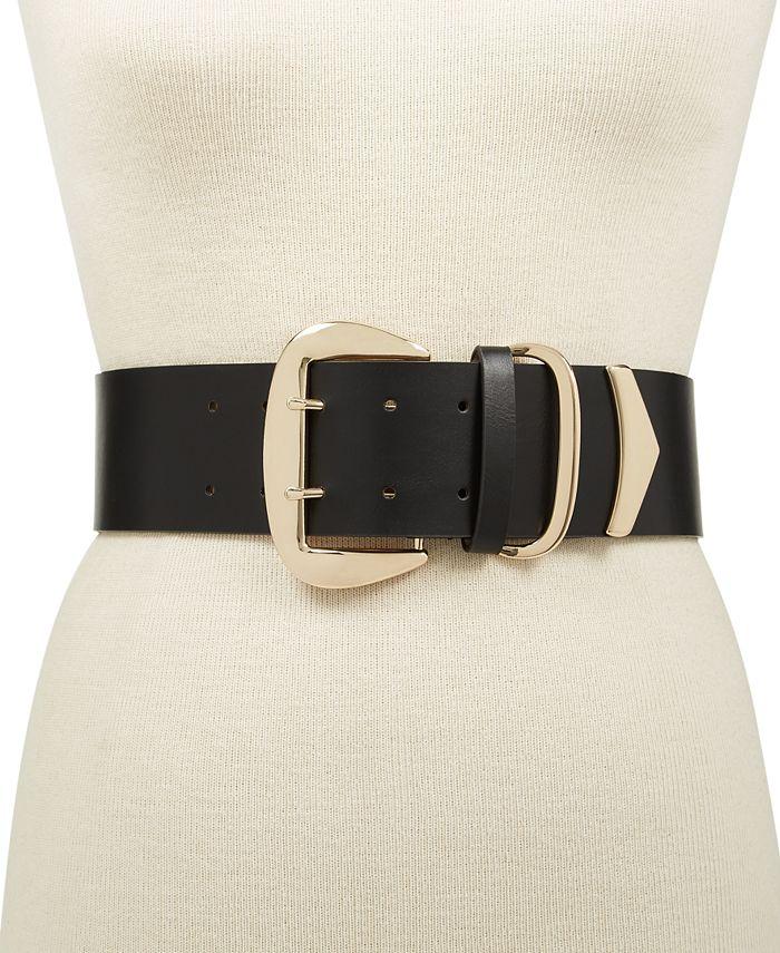 INC International Concepts - Oversized-Buckle Stretch Belt