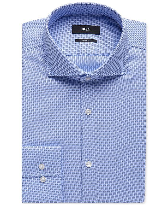 Hugo Boss - Men's Sharp-Fit Oxford Cotton Dress Shirt