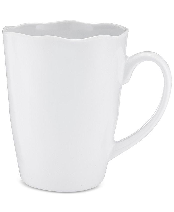 Q Squared - Ruffle 4-Pc. Melamine 15-Oz. Mug Set