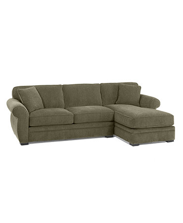 Devon fabric 2 piece sectional sofa apartment sofa and for Couch with 2 chaise lounges