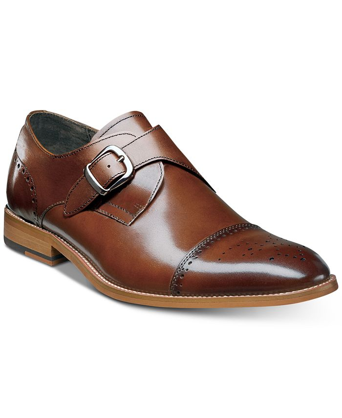 Stacy Adams - Men's Duncan Cap-Toe Single Monk Strap Shoes