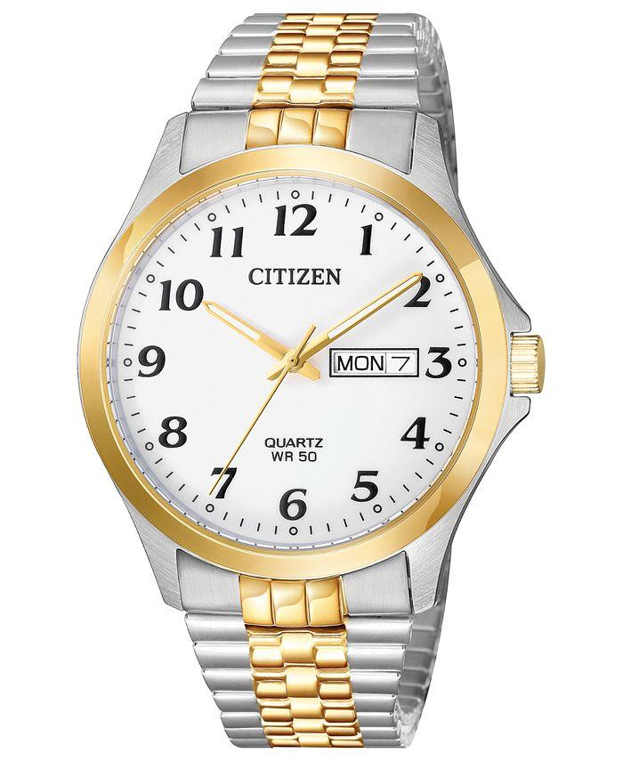 Citizen - Men's Quartz Two-Tone Stainless Steel Bracelet Watch 38mm