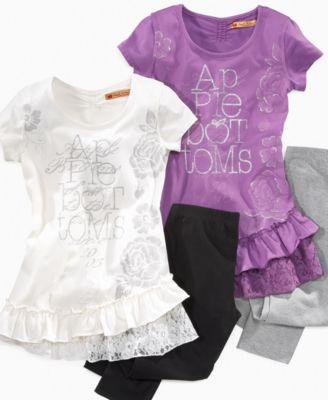 Apple Bottoms Kids Sets, Little Girls Tunic and Legging Sets