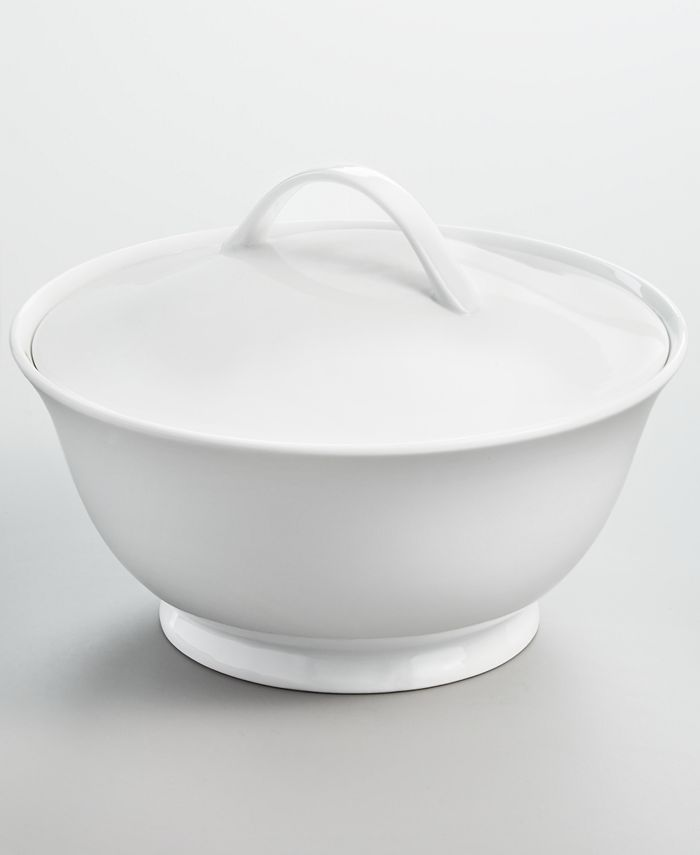 Martha Stewart Collection - Whiteware Covered Vegetable Bowl