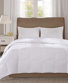 True North by Sleep Philosophy Level 1 300 Thread Count Cotton Sateen White Twin Down Comforter with 3M Scotchgard