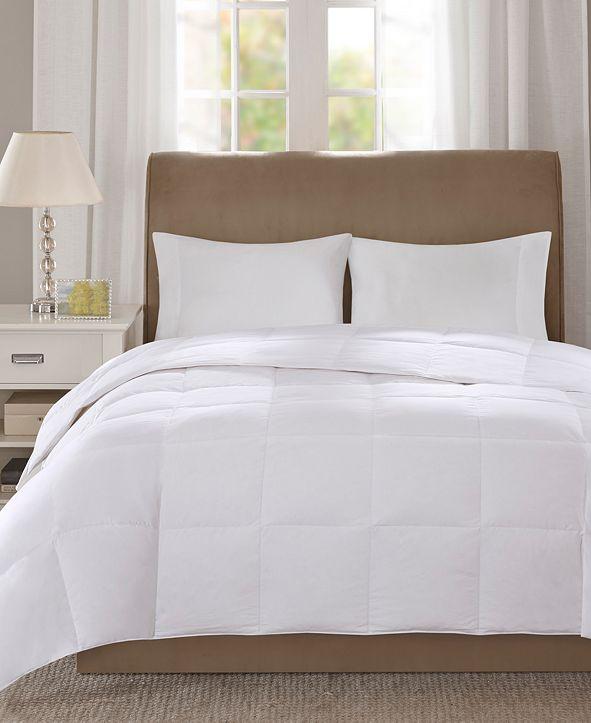 Sleep Philosophy Level 1 300 Thread Count Cotton Sateen White Twin Down Comforter with 3M Scotchgard