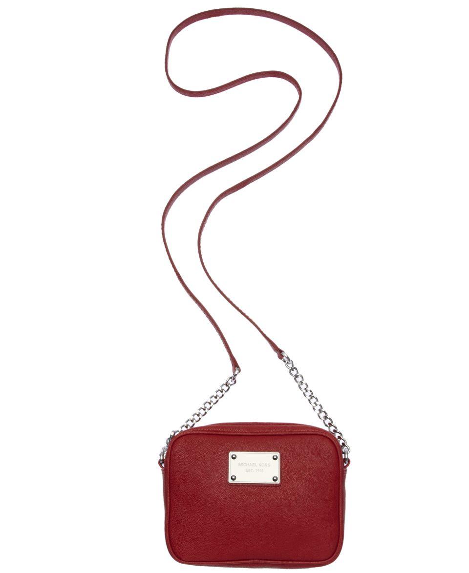 38ea1c834f6254 MICHAEL Michael Kors Jet Set Shiny Rhodium Crossbody Bag Handbags &  Accessories