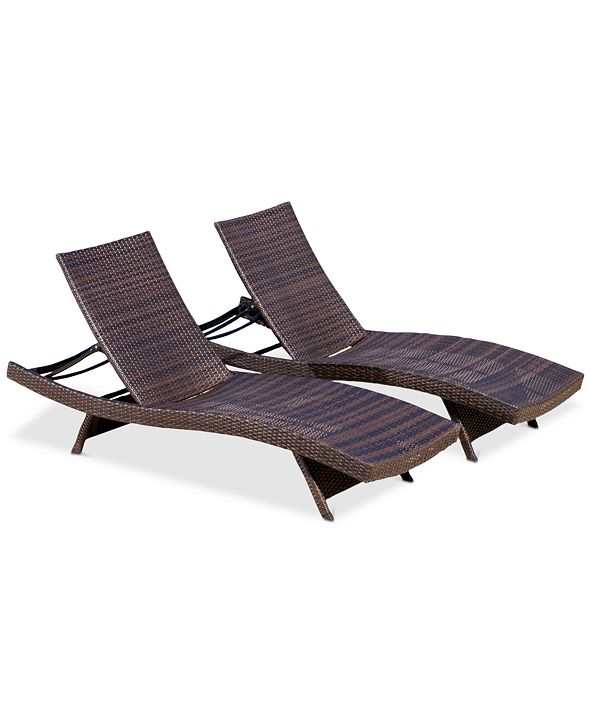Noble House Westlake Outdoor Chaise Lounge (Set Of 2)