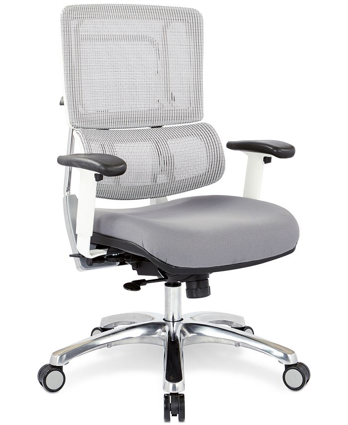 Office Star - Adkin Mesh Office Chair - White, Quick Ship