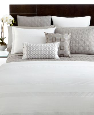 Hotel Collection Bedding, Pair of Woven Pleats European Shams