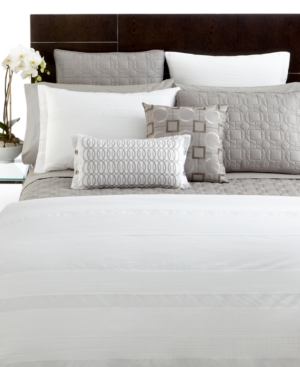 Hotel Collection Woven Pleats Twin Duvet Cover Bedding