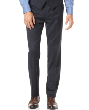 Alfani RED Dress Pants, Navy Solid Slim Fit