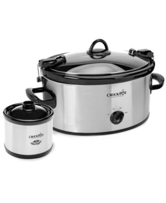 Crock-Pot SCCPVL603S Slow Cooker, Cook & Carry with Little Dipper Warmer