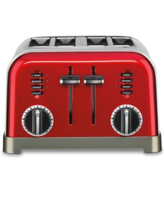 Cuisinart CPT-180MR Toaster, 4 Slice Metallic Red
