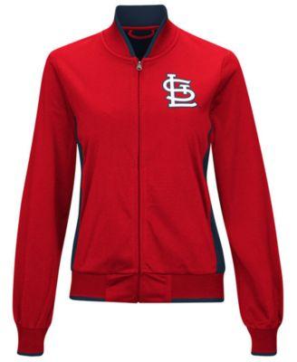 G-III Sports Womens St. Louis Cardinals Triple Track Jacket