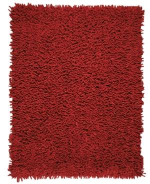 Anji Mountain Area Rug, Silky Shag Crimson 5' x 8'