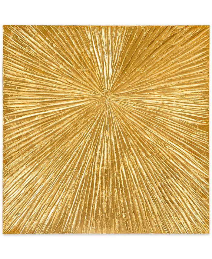 JLA Home - Madison Park Signature Sunburst Gold-Tone Resin Dimensional Deco Box Wall Art