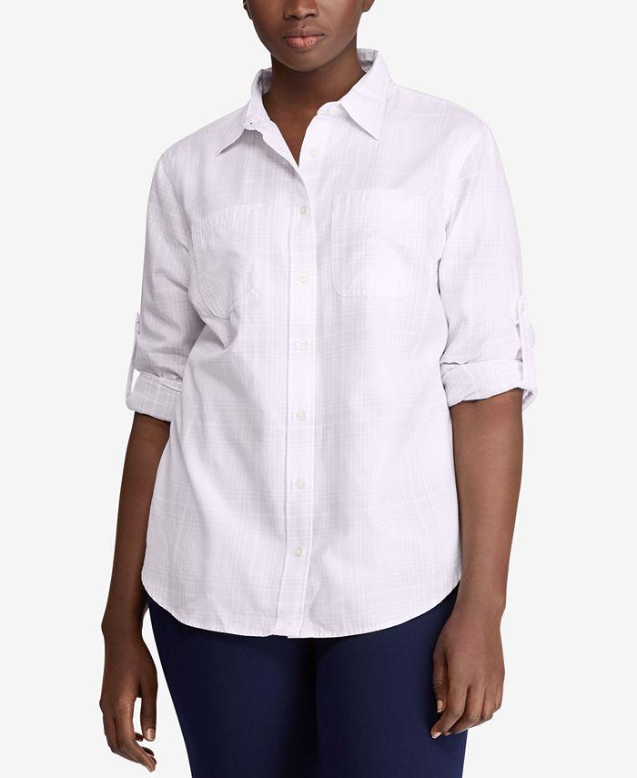 Lauren Ralph Lauren - Plus Size Cotton Shirt