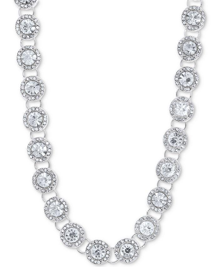"Anne Klein - Crystal & Pavé Collar Necklace, 16"" + 3"" extender"