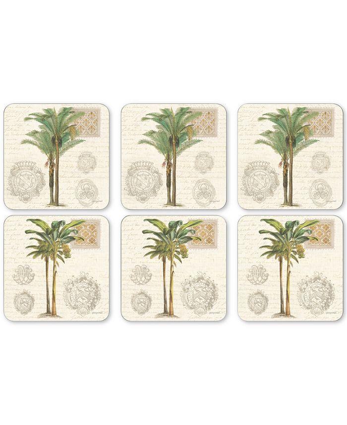 Portmeirion - Vintage Palm Study Set of 6 Coasters
