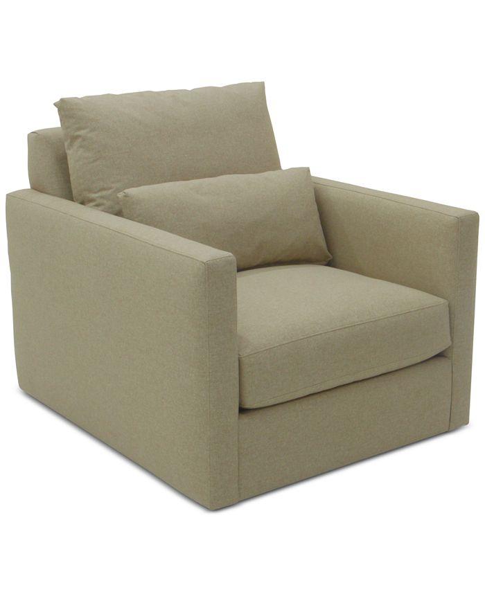 Furniture - Elmie 37'' Fabric Swivel Chair