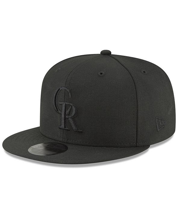 New Era Colorado Rockies Blackout 59FIFTY FITTED Cap
