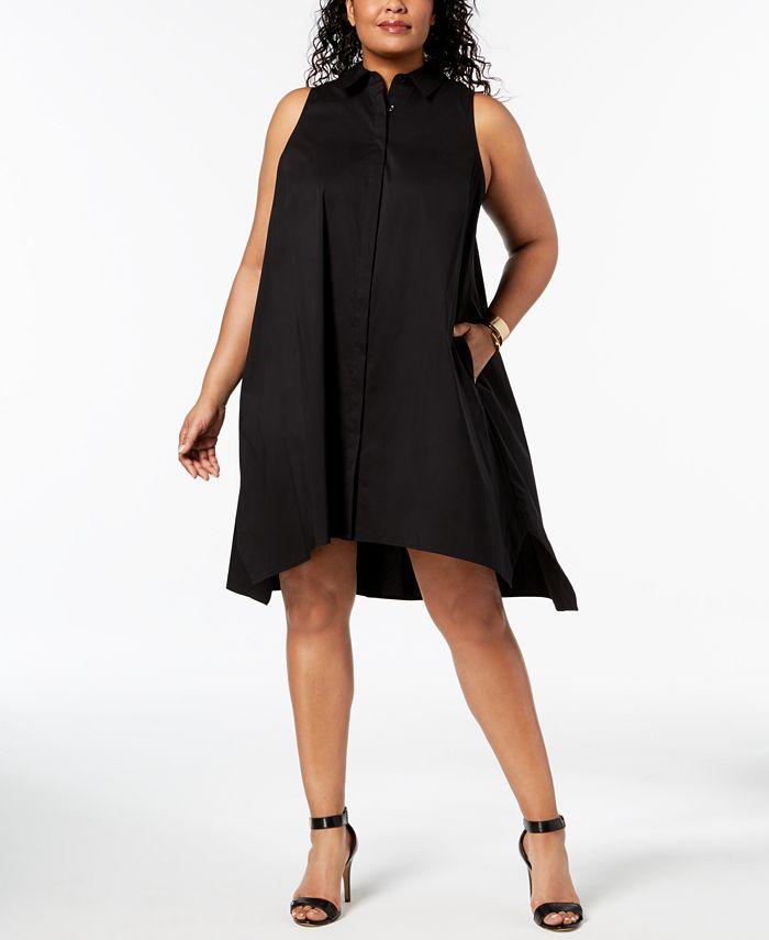 Alfani - Plus Size Trapeze Shirtdress