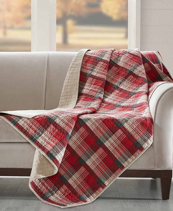 "Woolrich - Tasha Reversible Plaid 50"" x 70"" Quilted Throw"
