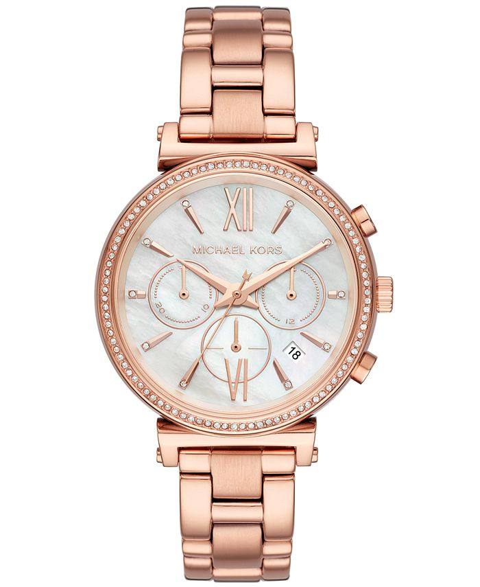 Michael Kors - Women's Sofie Rose Gold-Tone Stainless Steel Bracelet Watch 39mm