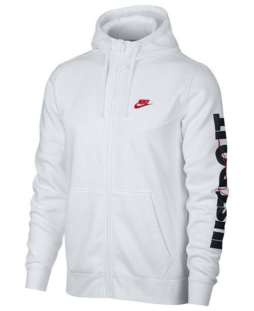 Nike Men's Sportswear Just Do It Fleece Zip Hoodie & Reviews ...