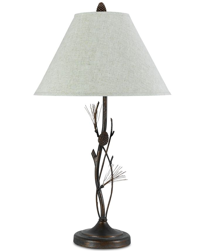 Cal Lighting - 150W 3-Way Pine Twig Iron Table Lamp