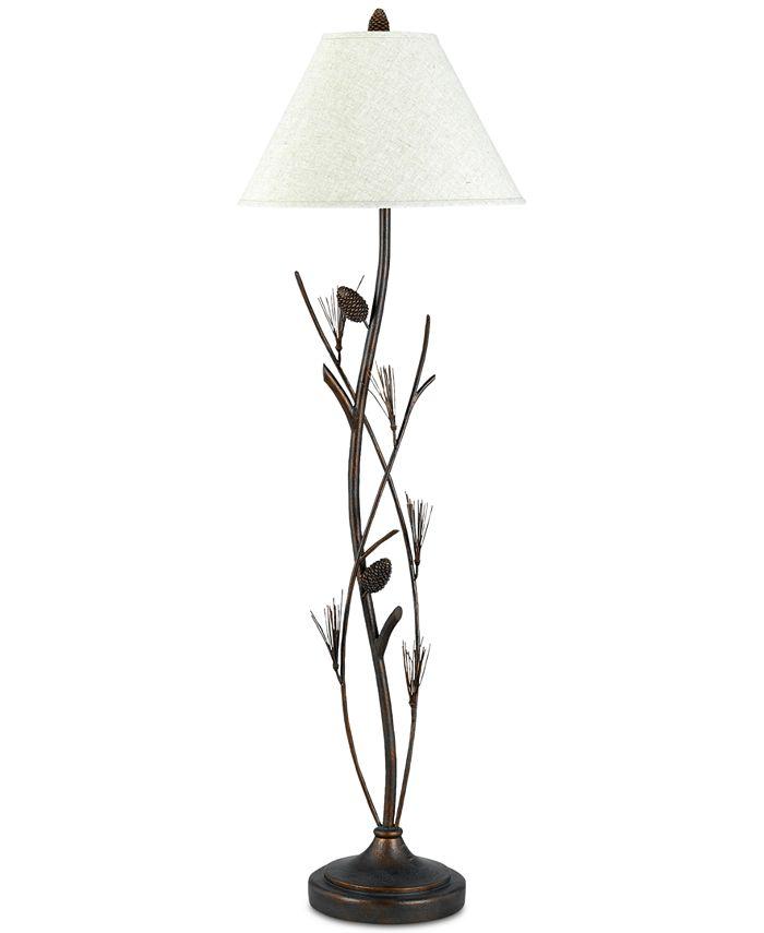 Cal Lighting - 150W 3-Way Pine Twig Iron Floor Lamp