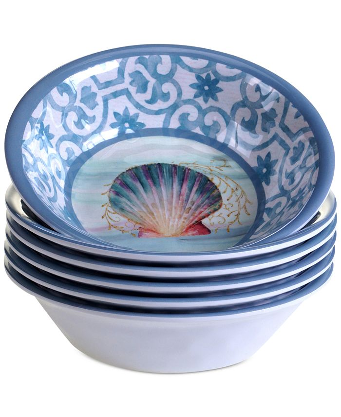 Certified International - Ocean Dream Melamine All-Purpose Bowls, Set of 6