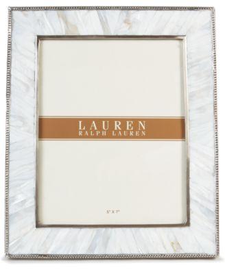 """Lauren RL Lauren Pearl 5"""" x 7"""" Picture Frame"""