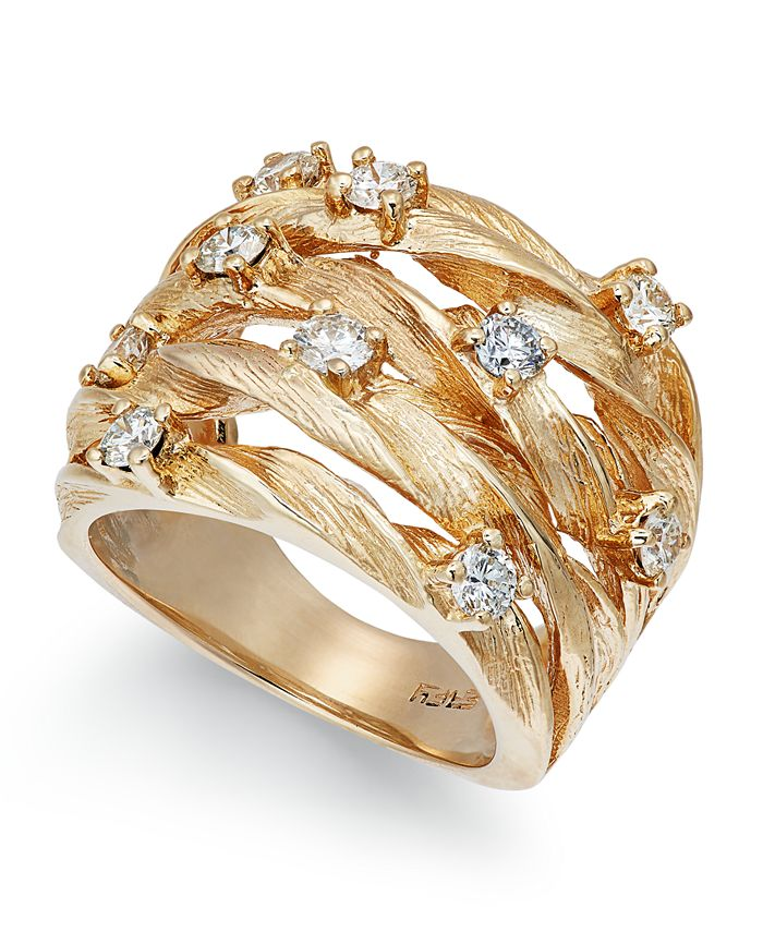 EFFY Collection - Diamond Woven Ring (1 ct. t.w.) in 14k White, Yellow, or Rose Gold