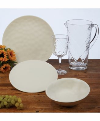 6-Pc. Cream Melamine Dinner Plate Set
